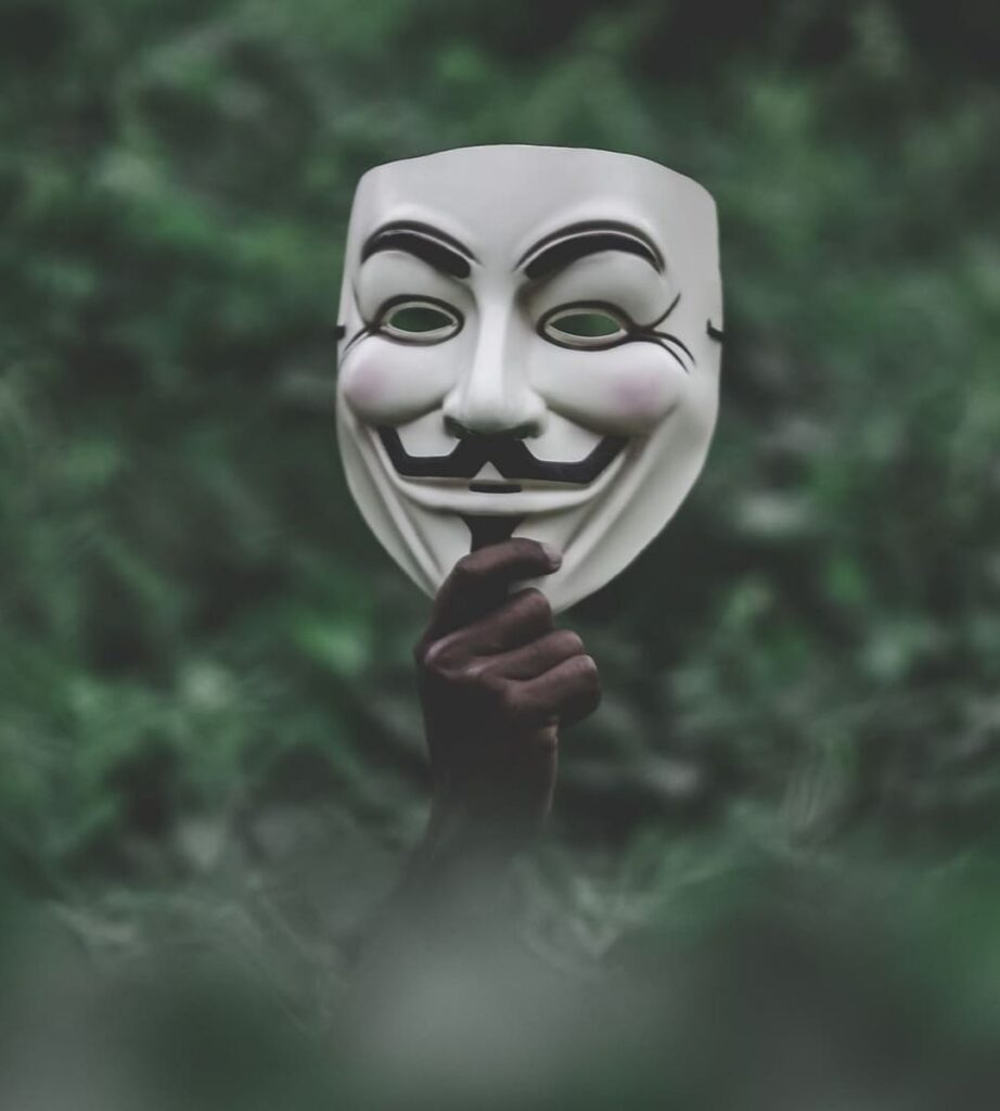 anonymous mask profile photo