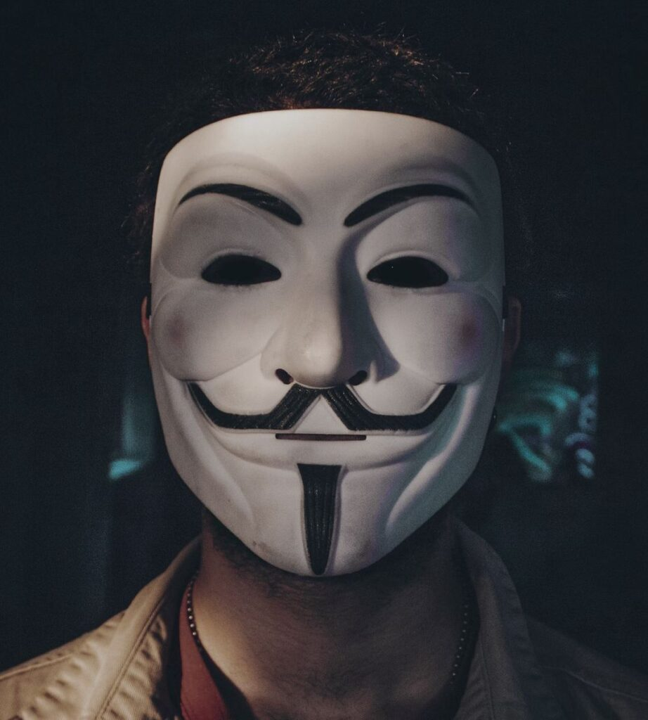 anonymous mask profile pic