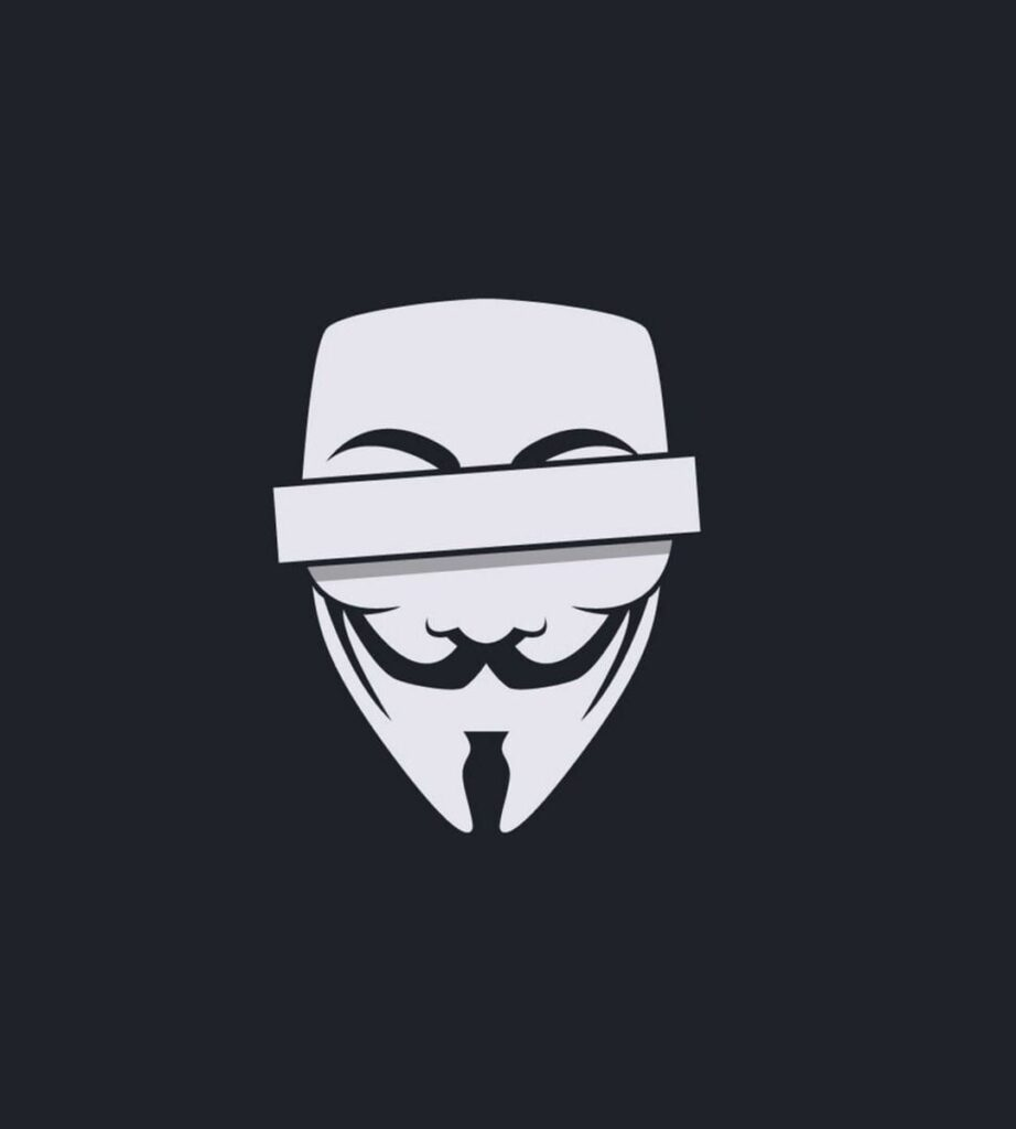anonymous mask profile picture for instagram