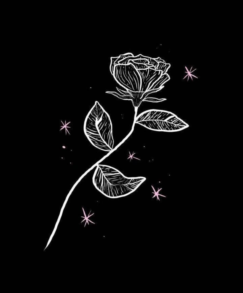 black aesthetic profile image